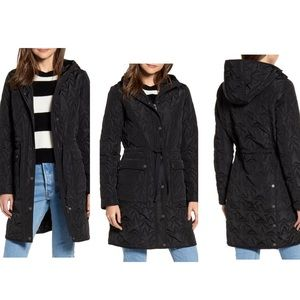 NWT AVEC LES FILLES Star Hooded Quilted Parka
